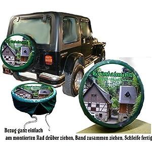 Dlovae Polyester Spare Tire Wheel Cover Car Truck SUV Camper 14 15 16 17 Groot Hugs Jack Skellington