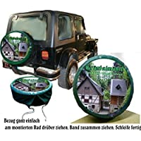 Bezug Reserverad Abdeckung mit ihrem Wuschmotiv & Text für Ihren Suzuki