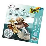 folia 952323 - Faltblätter Elefantenhaut 23 x 23 cm, 110 g/qm, 10 Blatt zum Nassfalten