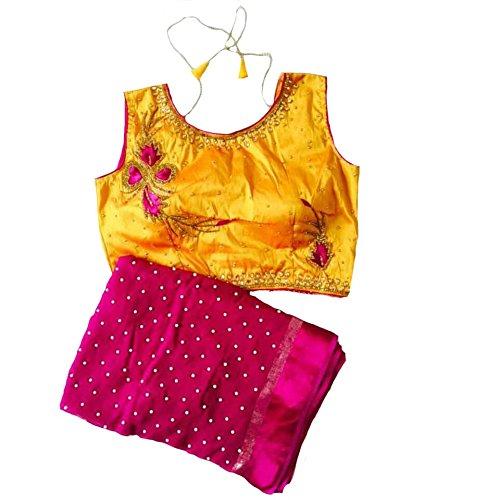 Balaji Fashion Women's fancy blouse GEORGETT fabric SAREE 5.50 METTER