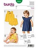 Burda 9358 Schnittmuster Kleid, Hängerchen und Bluse mit Höschen und Knopfverschluss (Kids, 62-92) Level 2 leicht