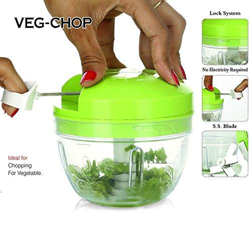Ankur Plastic Smart Chopper/Vegetable Cutter and Food Processor, Green