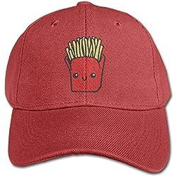 MN.NM4554 Kawaii French Fries Pure Color Baseball Cap Cotton Adjustable Kid Boys Girls Hat