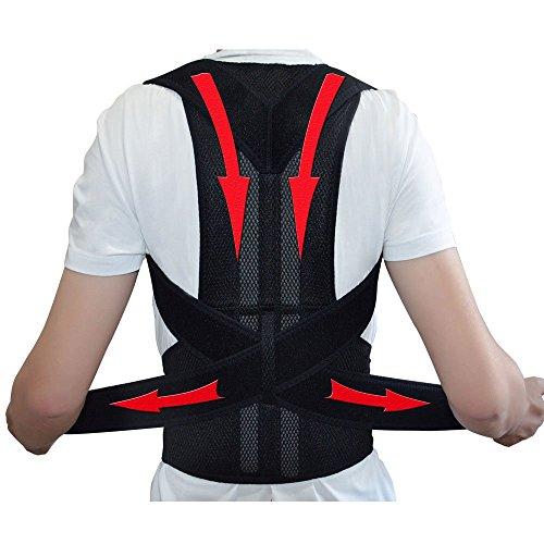 Verstellbare Rückenunterstützung Rückenstabilisator Körperhaltung Korrektur Gürtel für Männer Frauen Rücken Schulter Unterstützung Gürtel - L Rücken Unterstützung Gürtel Männer