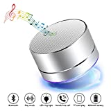 Altavoz Bluetooth inalámbrico, Mesllin Altavoz estéreo portátil Super Bass Stereo Speaker para iPhone iPod Laptop MP3 / 4 Players y más (Plata)