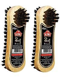 Kiwi 2 in 1 Shoe Brush (Pack of 2)