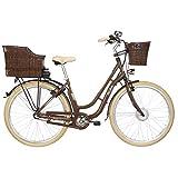 Fischer E-Bike Retro ER 1804 (2019), nussbraun glänzend, 28