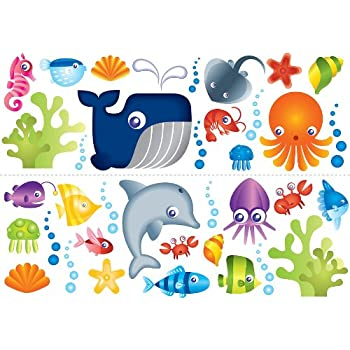 Fun4Walls Under The Sea Stikarounds Repositionable Wall Stickers Part 23