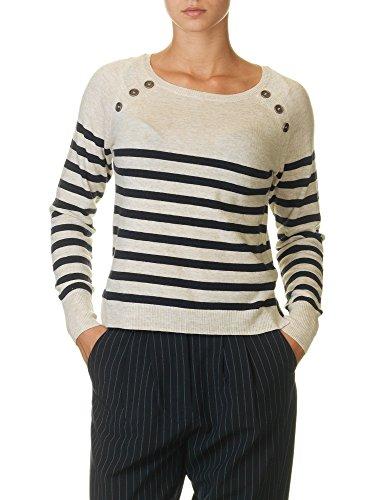 Only Women's Bayonne Stripe Women's Pullover In Beige In Size Xs Beige