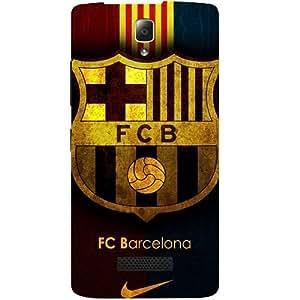 Casotec Barcelona Club Pattern Design Hard Back Case Cover For Lenovo A2010