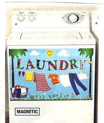 Preisvergleich Produktbild Laundry Room Deko Waschmaschine und Trockner Magnetische Aufkleber (66cm L x 161/5,1cm H)