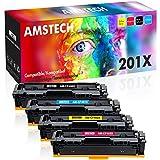 Amstech 4 Pack Kompatibel für HP201X HP 201X 201A CF400X CF401X CF402X CF403X CF400A für Toner HP Color Laserjet Pro MFP M277dw M277 Toner HP Color Laserjet Pro M252dw M277n M252n M252 M274n M274