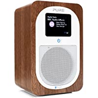 Pure Evoke H3 Portable DAB/DAB+/FM Radio with Bluetooth, Dual Alarms and Full Colour Display - Walnut