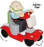 1 Stück _ Aufziehfigur -' lustige OPA / Rentner / Großvater' - Aufzieh Figur zum Laufen & Wettrennen - elektrischer Rollstuhl - lustig witzig - Geldgeschenk - Uropa - Geburtstag 60 / 70 / 80 - Aufziehspielzeug - lustiger Partyartikel - für' alte Säcke' - Rentenbeginn Rente - Scherz / Scherzartikel - Pfleger Pflegen - Geburtstagsparty Jahre - siebzigster - Rentner / Rentnerin - OPA´s Rentenkasse / Rente - Geld - Rollator / Rollstühle