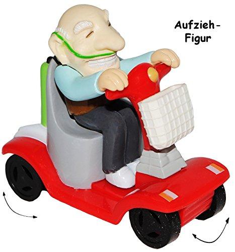 """1 Stück _ Aufziehfigur - """" lustige OPA / Rentner / Großvater """" - Aufzieh Figur zum Laufen & Wettrennen - elektrischer Rollstuhl - lustig witzig - Geldgeschenk - Uropa - Geburtstag 60 / 70 / 80 - Aufziehspielzeug - lustiger Partyartikel - für """" alte Säcke """" - Rentenbeginn Rente - Scherz / Scherzartikel - Pfleger Pflegen - Geburtstagsparty Jahre - siebzigster - Rentner / Rentnerin - OPA´s Rentenkasse / Rente - Geld - Rollator / Rollstühle"""
