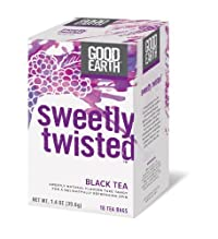 Good Earth Sweetly Twisted Black and Herbal Tea - 18 bags per pack -- 6 packs per case.