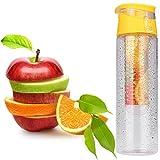 sunshineBoby Trinkflasche - Wasser Flasche, Sporttrinkflasche Inkl. Frucht Sieb für Fruchtschorlen,800ML Fruit Infusion Infusing Infuser Wasserflasche Sport Gesundheit Maker (Mehrfarbig C)
