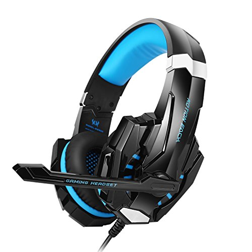 KOTION EACH GS900 Gaming Noise Cancelling per XBOX 360 / PS3 / PS4 / PC Cuffie da Gioco con Microfono Stereo Basso Regolatore di Volume per Cellulari
