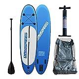 LINGJUN Stand Up Paddle Board SUP aufblasbares Surf Brett Paddling Surfboard, bis 140kg 305 x 75 x 15cm DE Lager