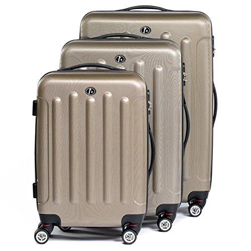 FergÉ® set di 3 valigie lyon - leggero bagaglio rigide dure da 3 rigida beige