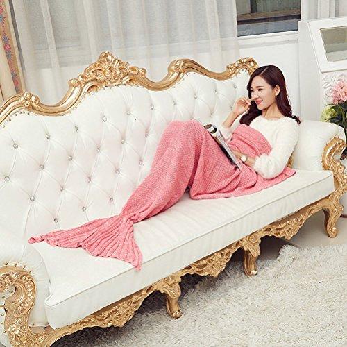 Pink Handgefertigt Meerjungfrau Stil Decke Schlafsack Mermaid Blanket 78 '' * 36 ''