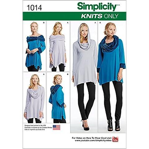 Simplicity 1014un tamaño de 2x -Small/XS/S/M/L/XL/2X L