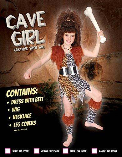 Imagen de disfraz de niña de cavernícola con peluca. 6  9 años alternativa