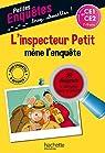 L'inspecteur Petit mène l'enquête - CE1 et CE2 - Cahier de vacances par Iturbe