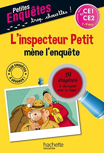 L'inspecteur Petit mène l'enquête - CE1 et CE2 - Cahier de vacances