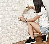 DODOING Fliesensticker Aufkleber Fliesenbild selbstklebend Tapete Design moderne 3D Optik für Wohnzimmer, Schlafzimmer oder Küche (5 Stück, Weiß)