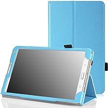 MoKo Samsung Galaxy Tab S 8.4 Funda - Slim Soporte Funda para Samsung Galaxy Tab S 8.4 Pulgadas Android Tableta, AZUL Claro (Con Cierre Magnético Para Reposo Automático)