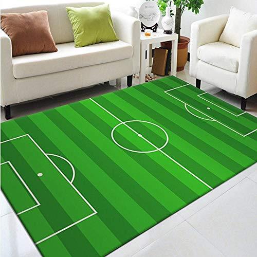 Pgron home tappeto per bambinitappeto da gioco per bambini tappeto da gioco tappeto da calcio campo da basket tappeto sportivo verde adatto per decorare camera da letto per bambini, 60 × 90 cm