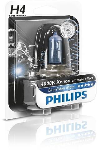 Philips 12342BVUBW Ampoule de phare de moto Blue Vision Moto H4