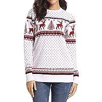 Geili Weihnachts Pullover Bluse Damen Renntier Dots Drucken Sweatshirt Frauen O-Ausschnitt Langarm Große Größen... preisvergleich bei billige-tabletten.eu