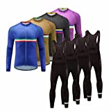 Uglyfrog #01 Neuer Radsport Anzüge Herren Winter Warm halten with Fleece Langarm-Radsport-Trikot+Lange Lätzchen Dicht with Gel Pad Breathable Classic Bicycle Set