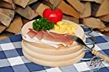 Breakfast Tray – Pack of 4 – Solid Beech Wooden Picnic Set Picnic Kit, Classic High-Quality Approx. 16 mm Thick Picnic Wooden Board with Chrome Handle Rectangular with Rounded Edges Round Diameter Approximately 25 cm & 1x Approx. 27 cm x 15 cm As Herb Board, Bavarian Bread Board Frame Solid Picnic Set of 6 Chopping Boards Small