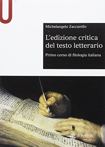 L'edizione critica del testo letterario