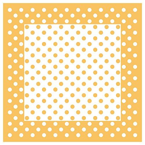TigerTie - Foulard - À Pois - Femme blanc orange