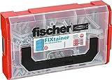 Fischer 532892 FIXtainer - Spreizdübel SX-Dübel-Box, Dübelset, 210 Teile