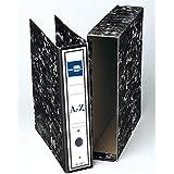 Liderpapel - Archivador de palanca folio classic black carton entrecolado con rado lomo 75mm compresor metal, color negro