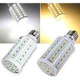 E27 12W blanco cálido / blanco 60 SMD 5630 SinglyFire LED bulbo del maíz de 220V.
