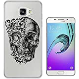 c0453 - Cool Fun Trendy skeleton floral walking dead scary skull tattoo biker skull Design Samsung Galaxy A5 -(2016 Modèle) Fashion Trend Protecteur Coque Gel Rubber Silicone protection Case Coque