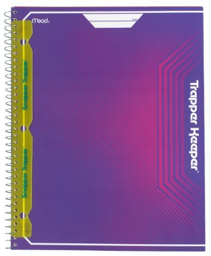 mead-trapper-keeper-snapper-trapper-8-pocket-portfolio-95-x-1188-x-25-inches-purple-72672-by-mead