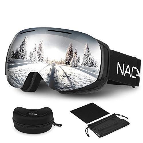 NACATIN Lunette de Ski OTG pour Homme et Femme, Masque de Ski, Anti-Bu