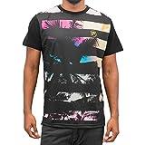 Just Rhyse Herren Oberteile / T-Shirt Beach II schwarz 3XL