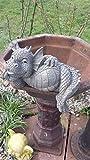 Figure de jardin Dragon 'satisfait' assis sur le bord décoration