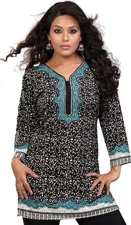 indien tuniken damen kurti printed bluse indische kleidung. Black Bedroom Furniture Sets. Home Design Ideas