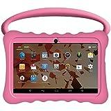 """Kids BTC UK 7"""" Quad Core Tablet PC (1GB RAM, 8GB HDD, Super UHD display, Google Android 5.1, WIFI, USB, Bluetooth) - Pink"""