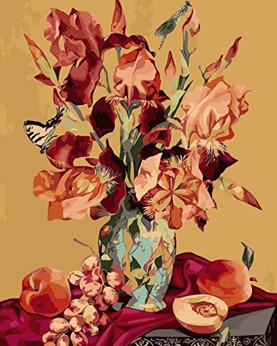 Granada De Iris Bodegón Pintura Por Números En Lienzo
