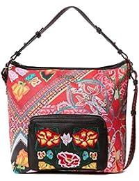Desigual - Bag Folklore Cards Olesa Women, Shoppers y bolsos de hombro Mujer, Negro